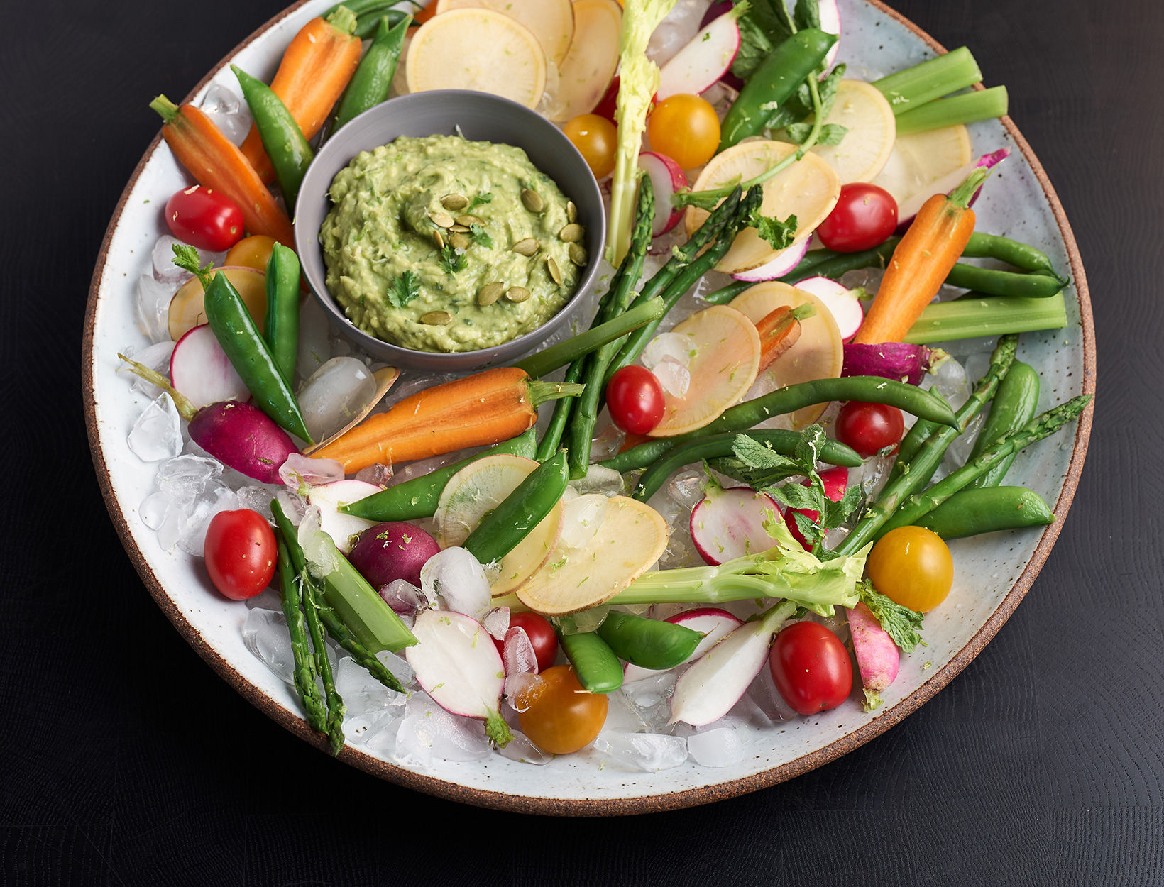 Summer Crudités with Avocado Dip
