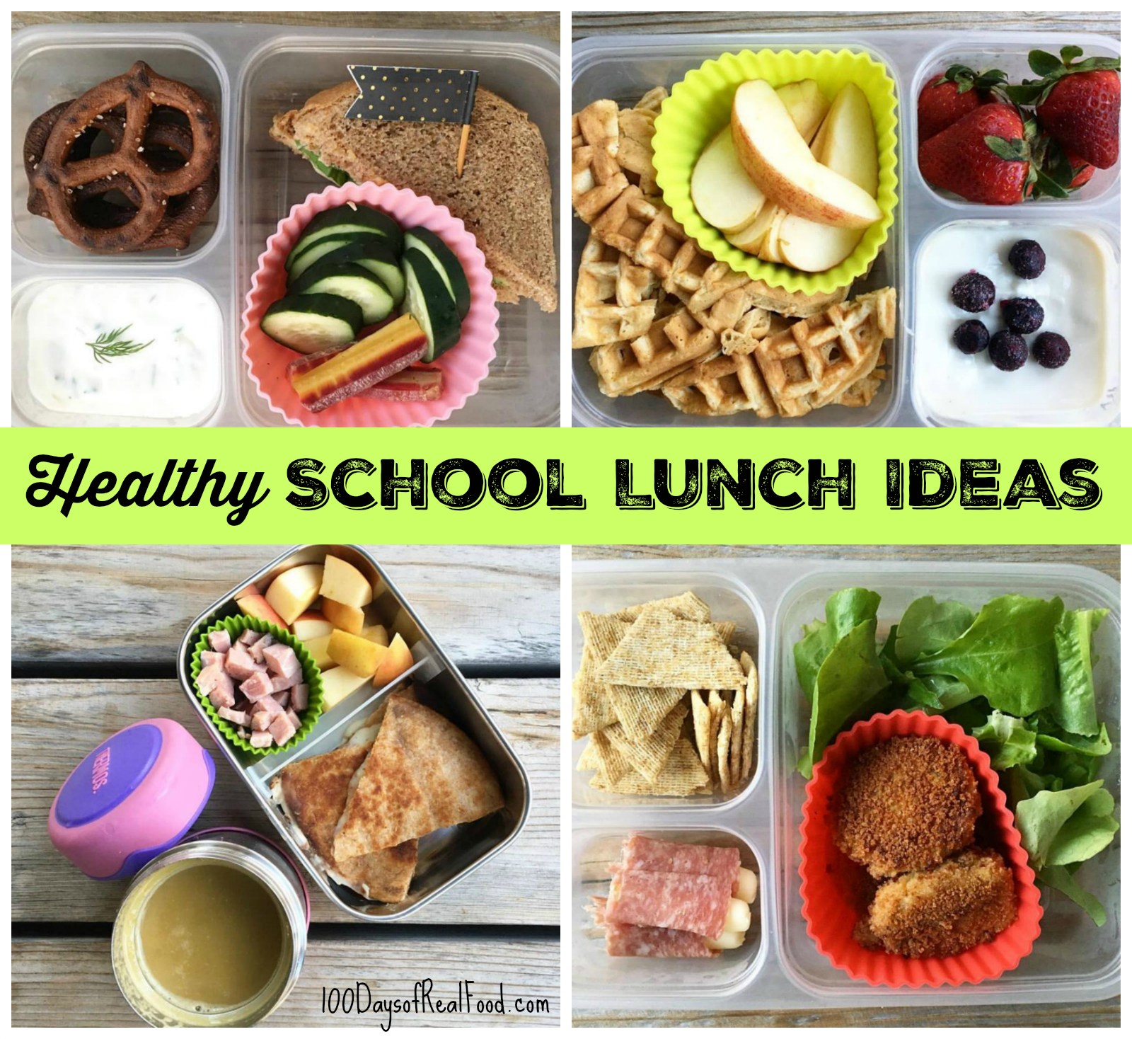 Healthy School Lunch Ideas (Roundup 11!)