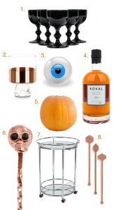 Halloween & Autumn Bar Cart Styling with some of our favorite spooky cocktails!