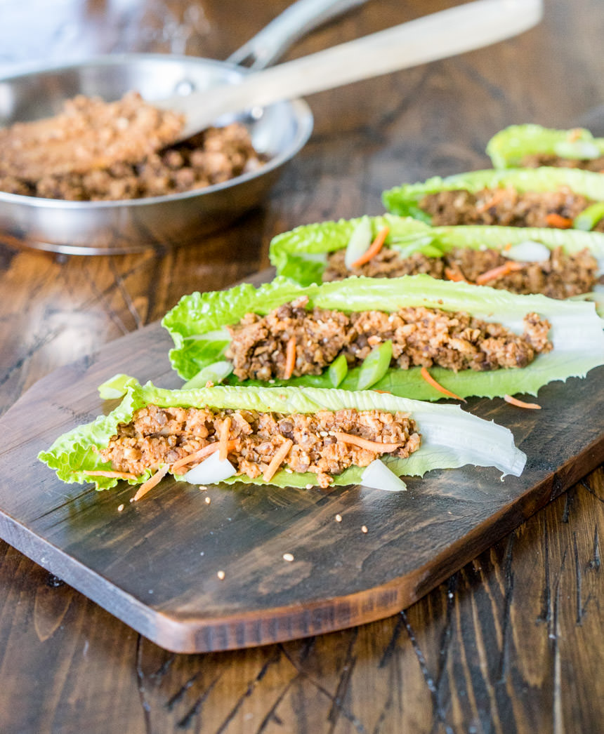 Meaty Lentil & Cauliflower Lettuce Wraps
